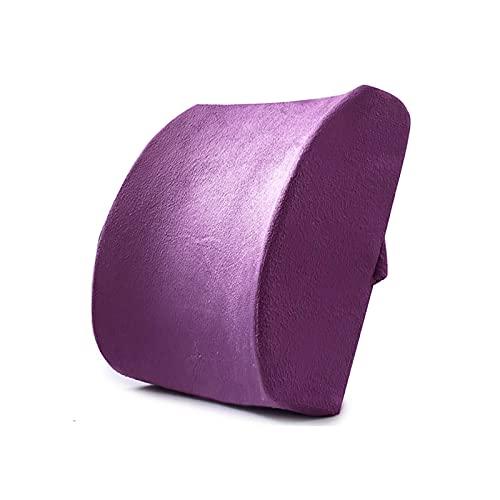 Almohada para la Espalda Almohada Lumbar para el automóvil Cojín Lumbar ergonómico Almohada de Soporte de Espuma viscoelástica Almohada para el Dolor de Espalda Lord Support Cojín de asient