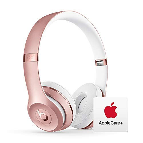 Beats Solo³ Wireless On-Ear Headphones - Apple W1 Chip - Rose Gold with AppleCare+ Bundle