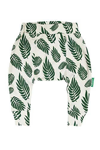 PARADE ORGANICS Harem Pants - Signature Prints Green Leaves 6-12 Months