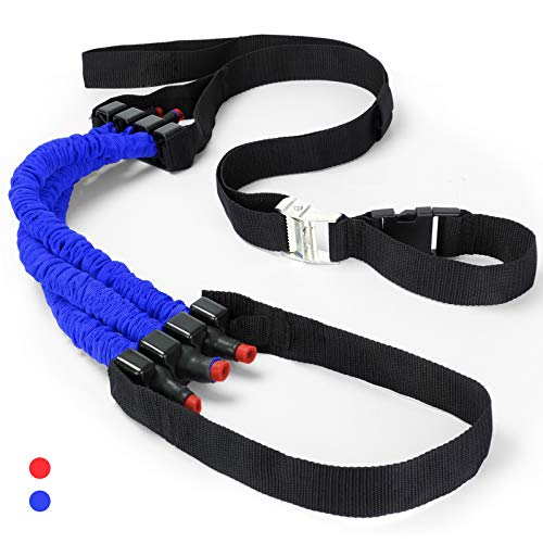 Odoland Pull Up Assist Band, Premium Powerlifting Assist Band, Stretch Resistance Bands to Improve Arm, Shoulders and Chest Strength, Upper Body Workout, Blue