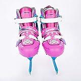 VerOut De la Mujer Patines de Hielo y los Hombres de los Patines de Hielo para Patinaje artístico, Patines de Ruedas Zapatos de los Patines Patines de Cuchillas Ajustables Rollerskates,Rosado,M