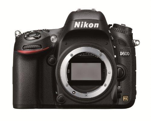Nikon D600 - Cámara réflex Digital de 24.3 MP (Pantalla 3', estabilizador óptico),...