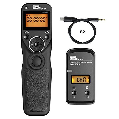 Pixel TW-283 Pro S2 senza fili Telecomando Timer Shutter Otturatore Rilascio per Sony fotocamera A7 A7R A3000 A6000 HX300 RX100II HX50 RX100M2 RX100M3 HX400 HX60 A58 NEX-3NL