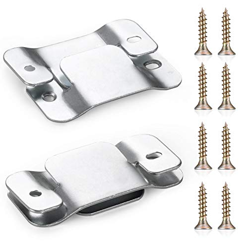 SONGTIY 4PCS Sectional Couch Connectors Furniture Connector, Premium Metal Sofa Interlocking Sofa Connector Bracket with Screws, Suitable for Loveseat (Silver)