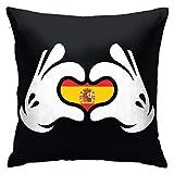 iksrgfvb Fundas de Cojines Fundas de Cojines decoración Corteza Nacionalismo Ilustración gráfica Arte Vectorial Bandera de España en el sofá Cama del Coche 45X45 CM