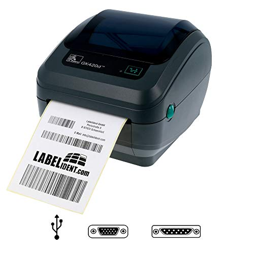 Zebra GK420d - labelprinter (directe warmte, 203 x 203 dpi, 127 mm/sek, kabel, 8 MB, 4 MB)