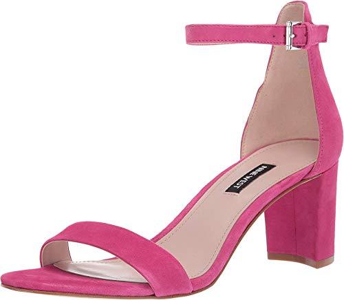 NINE WEST Pruce Block Heel Sandal Bright Fuchsia 10.5 M