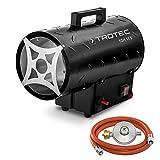 TROTEC Gasheizgebläse TGH 11 E Gas Heizgerät inkl. Verbindungschlauch und Druckminderer 10 kW für handelsübliche Gasflaschen
