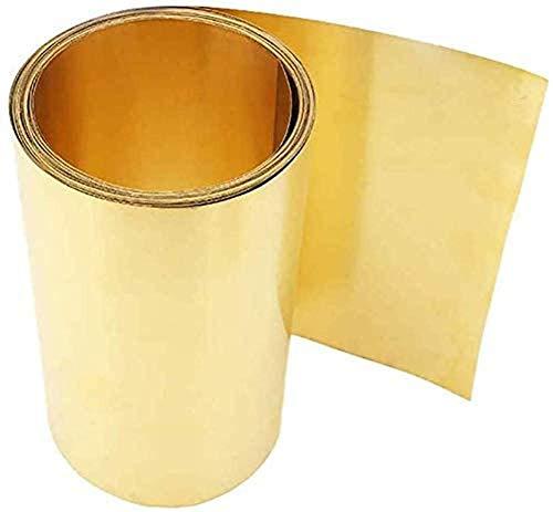 5 M de espesor de tira de latón fino 0,05 MM de ancho 200 MM de hoja de latón Película de oro Lámina de latón Placa de latón H62