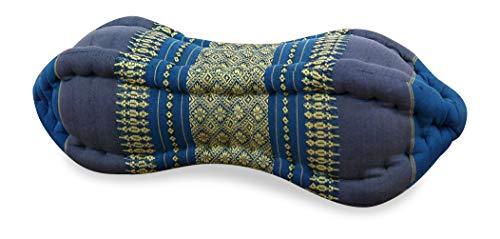livasia Papaya Nackenkissen der Marke Asia Wohnstudio, asiatisches Nackenstützkissen, kleine Nackenrolle mit Kapokfüllung (hellblau)