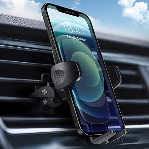 Supporto Cellulare Auto , Modohe Universale Porta Telefono Supporto , Regolabile, Sistema di Rilascio con Pulsante Singolo, Rotazione 360 Supporto per iPhone, Samsung, Huawei, Xiaomi