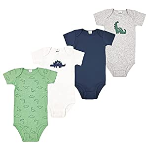 Bebés Mamelucos 4Pcs Body Onesies Manga Corta Pijama Algodón Monos Peleles Trajes Ropa Regalos Niños Niñas 3-6 meses
