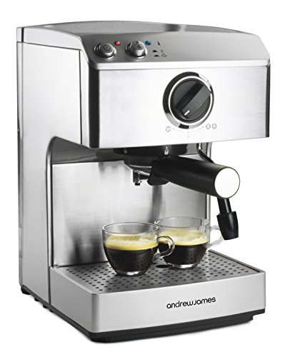 Andrew James 15 Bar Pump Barista Coffee Maker For Professional Espressos Lattes And Cappuccinos At Home