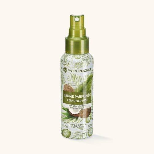 Yves Rocher LES PLAISIRS NATURE Duftspray Kokosnuss, Erfrischungsspray für Körper & Haare, 1 x Pump-Flacon 100 ml