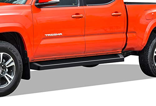 APS iBoard Running Boards (Nerf Bars Side Steps Step Bars) Compatible with 2005-2020 Tacoma Double Crew Cab Pickup 4-Door (Black Powder Coated Running Board Style)