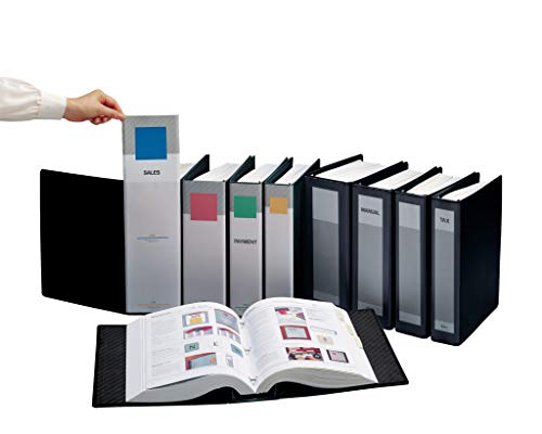 ProFolio by Itoya, SpringPost Binder - 5 Interchangeable Color-Coded Spines and 5 Tabbed Dividers , 4