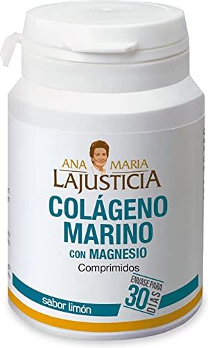 Ana Maria Lajusticia - Colágeno marino con magnesio – 180 comp (sabor limón). Articulaciones fuertes y piel tersa. Regenerador de tejidos con colágeno hidrolizado tipo 1 y 2. Envase para 30 días.