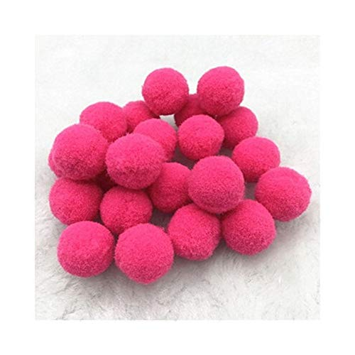 YVCHEN Fluffy Soft Pompom Plush Pom Poms Ball Pompones Handmade Sewing Craft Kids Toy Wedding Decor (Color : Rose red, Size : 20mm 36pcs)