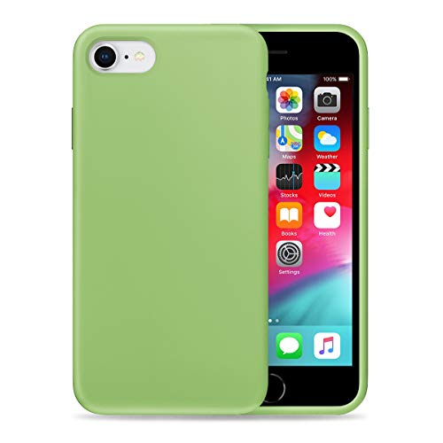 Liquid Silicone Phone Case for Apple iPhone 6/6S Full Body Protection/Shockproof/Gel Rubber/Cover Case Drop Protection Green