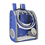 SMZsmz Mochila Portadora para Perros Y Gatos, Mochila Plegable para Mascotas para Perros Pequeños, Cachorros para Viajes Al Aire Libre, Acampar, Senderismo,Azul