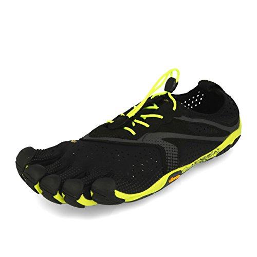 Vibram Fivefingers - Zapatillas de Running de Tela para Hombre Negro Negro, Color Negro, Talla 43 EU
