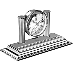 El Casco M662 Desk Clock and Pen Holder - Shiny Chrome Trim
