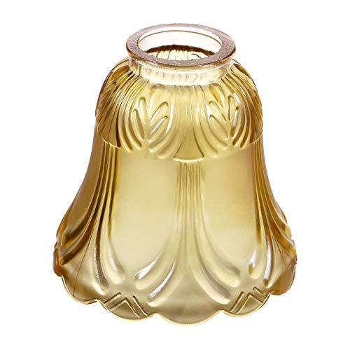 miwaimao 1 pieza pequeña de cristal con forma de campana decorativa para el techo, lámpara de pared, lámpara de vela, lámpara de araña, cubierta de sombra, repuesto