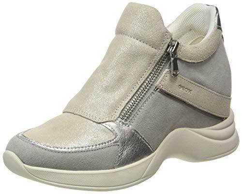 Geox D ARMONICA B, Zapatillas Mujer, Color Gris, 37 EU
