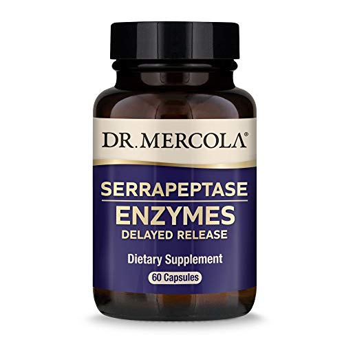 Dr. Mercola Serrapeptase Enzymes, 60 Servings (60 Capsules), Supports Overall Immune Health*, Non GMO, Soy Free, Gluten Free