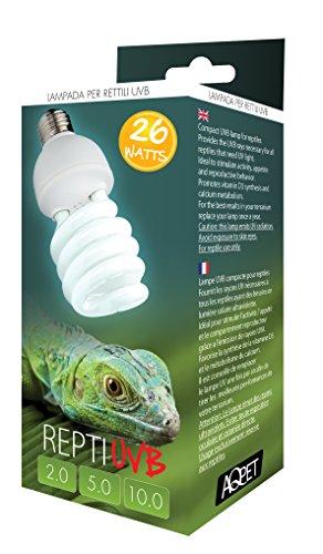 LAMPADA UVB UVA 10.0 10% REPTI UVB COMPACT LAMPADA PER RETTILI TERRARIO 26 WATT