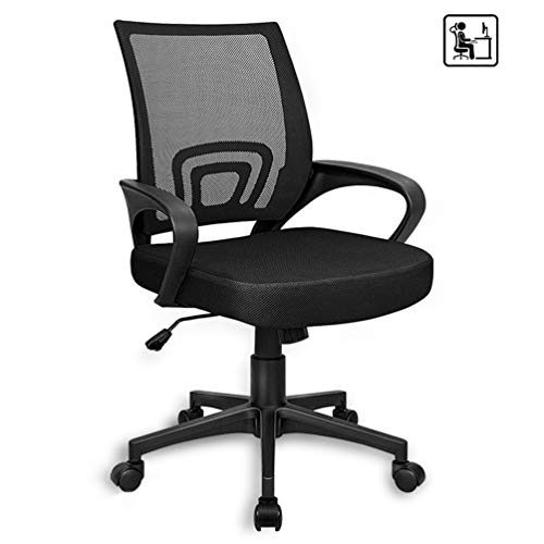2020 Upgrade Desk Chair for Teens,Mesh Ergonomic Office Back Lumbar Support Chairs for Home Bedroom Room Teenager Kids Girls Boys (Black)