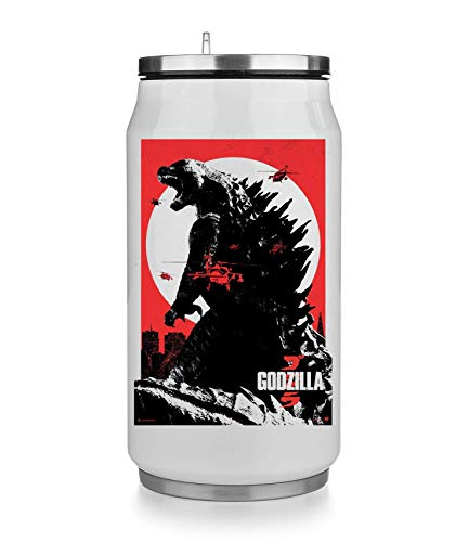 KRISSY Godzilla Monster Japanese Movie Thermobecher Thermal Beverage Can Thermotasse Thermal Tasse Coffee Mug
