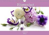 Blumenlust (Wandkalender 2022 DIN A4 quer): Strahlende Blumen und Blueten (Monatskalender, 14 Seiten )