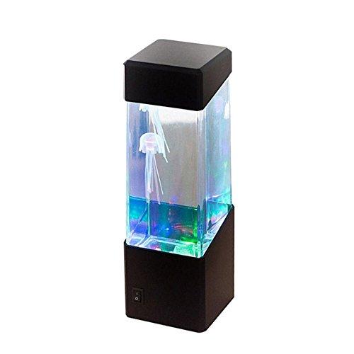 Quallen Lampe Innen, Desktop Dekoration Lampen LED Unterwasserlicht Aquarium Jellyfish Lampe Farbwechsel Stimmungslampe Nachtlicht Lavalampen - 4 Arten (Quallen Licht)