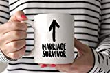 N\A Taza de superviviente de Matrimonio Taza de Aniversario Taza de Boda Regalo de Boda Novia Taza de Despedida de Soltera Taza Divertida Aniversario