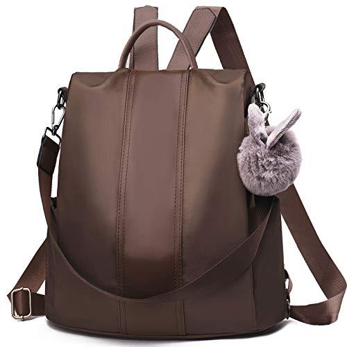 Preisvergleich Produktbild CHARMORE Damen Rucksack Wasserdichte Nylon Schultasche Anti Diebstahl Daypack Schultertasche Leichtgewicht Reiserucksack