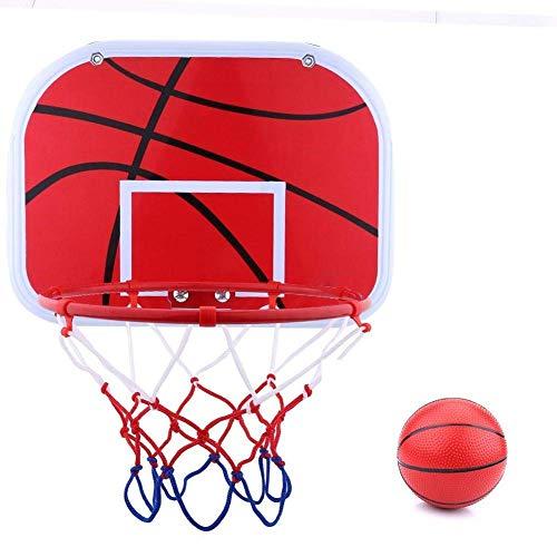 Samtlan Canasta de Baloncesto Sin Punching Colgante Baloncesto Estante Reutilizable Mini Interior Exterior Tablero Juego con Red Pelota Y Bomba Para Hogar Dormitorio Oficina