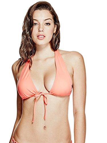 Guess Damen Up Long Triangle Bikini Top - Gelb - Small