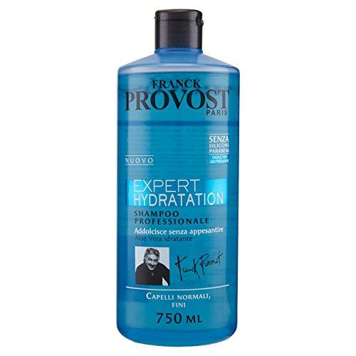 Franck Provost Expert Hydratation Shampoo Professionale per Capelli Normali Fini, 750 ml