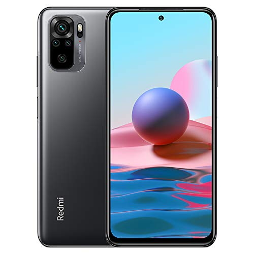 Xiaomi Redmi Note 10 Smartphone 4GB 128GB Teléfono,6.43' AMOLED DotDisplay,Snapdragon 678 Procesador (48MP+8MP+2MP+2MP) Quad Cámara,Dual SIM Card,Fingerprint and AI Face Unlock Versión Global(Gris)