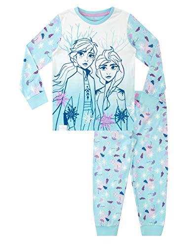 Disney Mädchen Die Eiskönigin Schlafanzug Frozen Blau 104