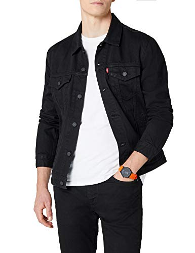 Levi's Herren The Trucker Jacket Jeansjacke, Schwarz (Berkman 144), Medium