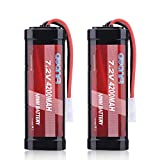 AWANFI 7.2V 4200mAh NiMH Battery High Power RC Car Battery with Tamiya Connector for RC Car RC Truck Traxxas LOSI Associated HPI Kyosho Tamiya Hobby(2Pack)