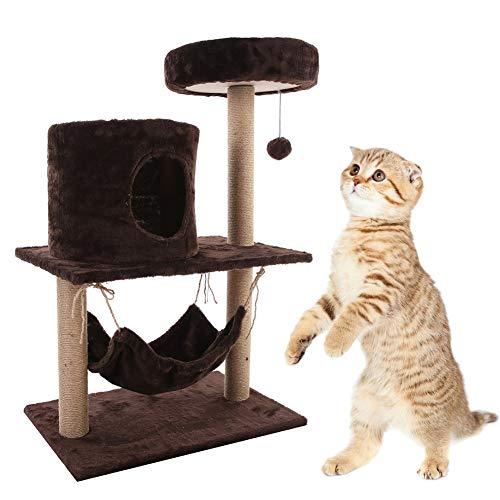 Winnfy Árbol de gato Rascador de Juguete Centro de Actividad Torre Gato Escalada Marco Multifuncional Casa de Juego Juguete Rascador Posts