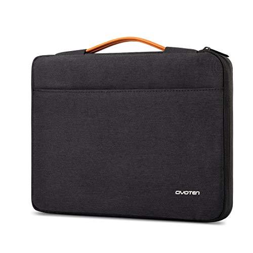 Civoten Laptop Sleeve Case 14 Inch Notebook bag 360° Protective Handbag for 15' New MacBook Pro/Lenovo Flex 4/ThinkPad X1 Carbon L480 T480s E480/HP Pavilion X360/Dell Latitude 5490 7490 2018, Black