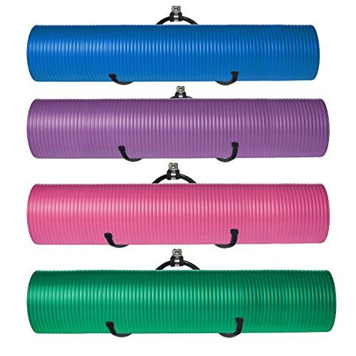Verstellbares Wandregal, aus Metall, Mehrzweck-Regal für Schaumstoffrollen, Yogamatten, Aufbewahrung, Fitness-Matte, Badetücher,Halter für Ihre Fitness-Klasse oder zu Hause,Fitnessstudio, 4 Stück
