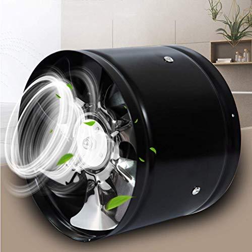 Extractor De Baño, Extractor de baño, ventilador, extractor de cocina, ventilador de tubería, negro, negro para oficina/almacén/dormitorio/cocina (tamaño: 8 en) (Size : 7 In)