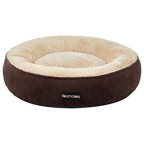 FEANDREA Hundebett, Katzenbett, Donut, Ø 60 cm, braun PGW060K01