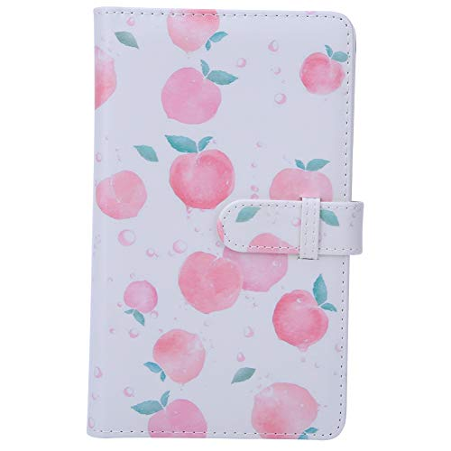 VBESTLIFE 3 Zoll 96 Taschen PU Leder Instant Photo Album Picture Case für Instax mini8/9/7s/25/70/90 Kamera Photo Peach Pattern