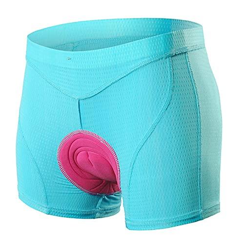 Culotte Ciclismo Mujeres,3D Acolchados Para Bicicleta De Carretera Pantalones Cortos,Transpirables De Secado Rápido Cortos Bicicleta,Para Entrenamiento De Ciclismo Y Carrera (Size:XXL,Color:Azul)